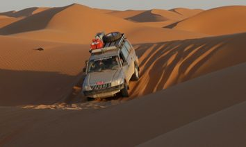 Oasis et dunes sahariennes